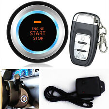 Car Auto Alarm System Security Vibration Alarm Engine Start Push Button Remote (Fits: Chrysler Concorde)