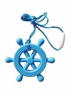 Sea Helm Wheel Silicone Teether Soother Teething Sensory Chewy Chewelry BPA...