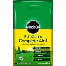 Miracle Gro Evergreen Complete 4 in 1 Lawn Food Weed & Moss Control Feed 150sqm