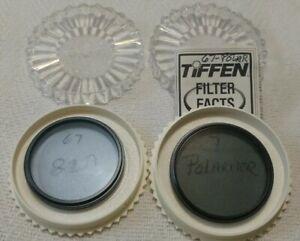 Vintage Tiffen 67mm Circular Polarizer and 82A Light Balancing Filter Japan USA