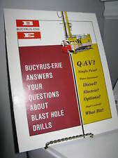 Bucyrus-Erie Q & A Blast Hole Drills 8-Page Sales Ad Brochure - VG