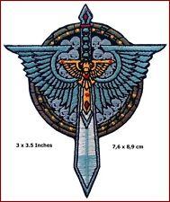Dark Angels Sword Skulls Warhammer 40,000 3.5 Inches Applique Patch