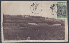 CAMEROON 1930 40 POST CARD OF YAOUNDE KRIBI TO SENEGAL + FULL KRIBI CANCELS ON