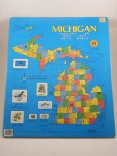 Puzzlin' State Michigan 26th State 1837-1987 Map Puzzle SEALED