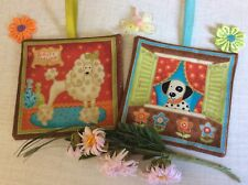 LAVENDER FILLED BAGS SACHETS POODLE AND DALMATIAN HANGING DECORATION DOGS GIFT