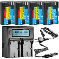 LP-E6 Battery + LCD Charger for Canon 5D Mark II III IV 80D 70D 60D 6D 5Ds 5DSR