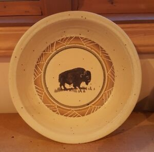 Dakota Stoneware Pottery Bushnell Large Pasta Bowl Buffalo