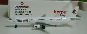 Herpa 1:500   -  A321   Aero Lloyd Airlines   -   508674