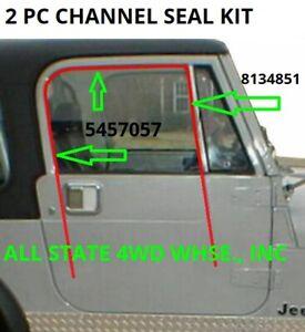 Window Run Channel Seal Weatherstrip Kit for Jeep CJ7 CJ8 Scrambler Wrangler YJ
