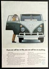 1965 VW Van VOLKSWAGEN vintage AD *If You Can Sell Her On This* Station Wagon