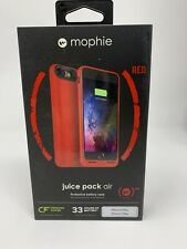 Authentic Mophie Juice Pack Air Battery Case iPhone 7 Plus, 8 Plus Red Wireless