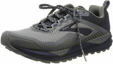 Brooks Men's Cascadia 14 Trail Running Shoes, Grey/Navy, 8.5 D(M) US