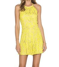 New! $385 Trina Turk Delia Romper Yellow Lace Size 0