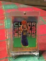 STEPHEN CURRY EMERALD CLEAR SHOTS ACETATE 2019-20 PANINI ILLUSIONS NO. 9