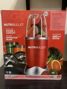 NutriBullet NBR-1201R 12-Piece High-Speed Blender/Mixer System, Red (600 Watts)