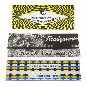 Highland King Size Rolling Papers Variety 3 Pack -  Cosmic Headquarter & DD