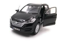 Hyundai Tucson SUV Black Model Car With Desired License Plate Scale 1:3 4