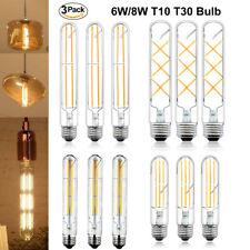 T10 Led Tubular Bulb,100 Watt Incandescent Bulb,12W T30 Dimmable Edison Led Long Bulb,3000K Soft White,E26 Medium Base Lamp,7.3in 185mm ,3-Pack