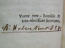 ALCHIMIE HELVETIUS: Traité des maladies, 1707, avec SIGNATURE de l'auteur ! or