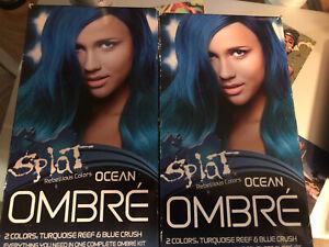 Splat Rebellious Colors OCEAN OMBRE Long Lasting Hair Color 1 Kit (Lot of 2)