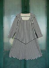 Gudrun Sjoden Long-Sleeve Tunic Dress -XL- Black White Stripe Organic Cotton
