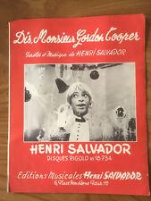PARTITION HENRI SALVADOR DIS MONSIEUR GORDON COOPER   H64