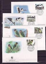 Zambia 1996 - FDC - Vogels/Birds/Vögel  WWF/WNF