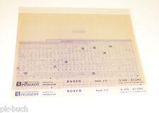 Microfich Ersatzteilkatalog Peugeot Boxer Stand 07/1997
