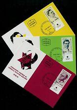 Israel 740-742, Famous People, Phila Maxi Maximum Card