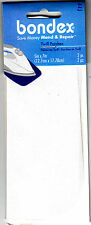 """BONDEX WHITE TWILL 5"""" x 7"""" Iron On Mending Patches (2 Pc) Clothing Repair Mend"""