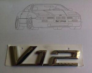 Original BMW Emblem V12 Typenschild E32 E31 E38 750i 850i 850ci 850CSI