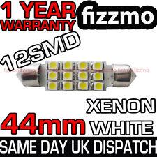 12 Smd Led 43mm 44mm Blanco número Placa Luz Interior De Domo Festoon bombilla del Reino Unido
