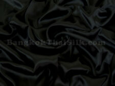 "10 YDS BLACK SATIN FABRIC 60""W FOR DRESS DRAPE TABLE CLOTH SHEET BOW CHAIR COVER"