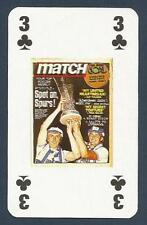 MATCH MAGAZINE-20 YEAR ANNIVERSARY COVER PLAYING CARD-TOTTENHAM LIFT EURO CUP-3C