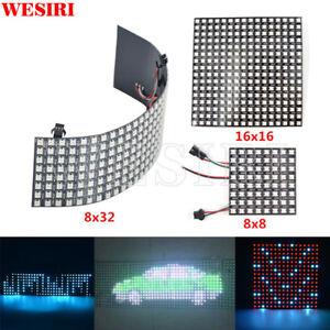 8x8 16x16 8x32 SK6812 WS2812B Addressable Flexible LED Panel Pixels Screen DC5V
