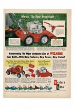 VINTAGE 1958 WESTERN AUTO WIZARDS LAWN MOWERS AERATOR ROLLER TRACTOR AD PRINT