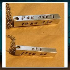 Handmade Firefly Serenity You Can't Take The Sky From Me Stamped Necklace