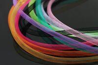 9 pcs Assorted Plain Colors&Sizes 6mm/8mm Mylar Tinsel Mesh Tube 1m Fly Tying