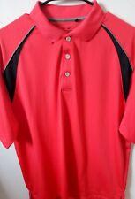 Snake Eyes Apparel Men Large Red Short Sleeve Golf Polo Shirt