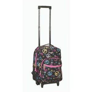 17 Inch  ROLLING BACKPACK - PEACE