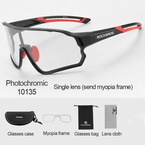 ROCKBROS Cycling Full Frame Photochromatic Glasses Sport Sunglasses Bike Goggles
