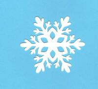 "Snowflake die cuts, 3"" x 3.5"" - Snowflake page decor - Winter die cut #3 10 pcs."