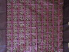 """100% Silk~ Square Transparent Table Cloth~51"""" x 51""""~Red Wine Color~Embroidered"""