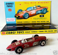 Vintage CORGI 154 FERRARI FORMULA 1 GRAND PRIX RACE CAR Diecast Model & Display