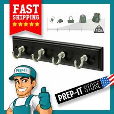 Black Wall Mount Key Rack Hanger Holder 4 Hook Chain Storage Keys Organizer New