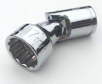 """US Pro 17mm x 12 pt UJ universal swivel wobble joint socket 3/8"""" drive inc VAT"""