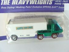 Hot Wheels Redline 1970 Green Moving Van Heavyweights On Blister Card