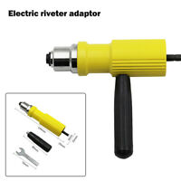 Electric Rivet Nut Gun Cordless Drill Kit Adapter Riveting Tool Insert Set