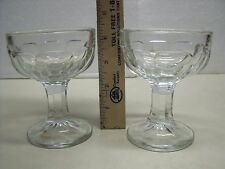 Jefferson Krys-Tol ? Sherbert crystal thumbprint bowls 2 pc lot