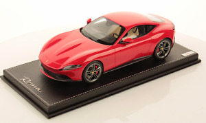 1/18 MR Collection Ferrai Roma Coupe Rossa Corsa Red on Black Leather Base